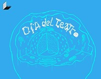 Gráfica Día del Teatro, DETUCH, UCH, 2013.