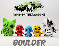 Kidrobot Boulder x Mind of the Masons