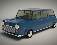 Low Poly Station Wagon 02