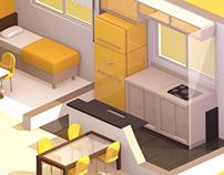 Interior 3D Cartoon
