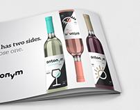 Antonym Wines | Logo, Labels and Catalogue
