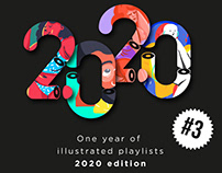 One year of illustrated playlist 2020 edition