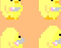 Stabbing duckling plush
