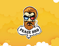 Sticker for smoke tower. Peace