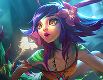 Neeko - The curious Chameleon Login Screen
