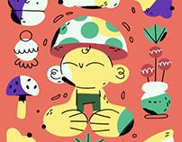 Mushroom & plants