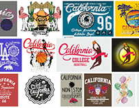 California College graphic design vector art