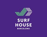 BRAND IDENTITY SURF HOUSE  BARCELONA