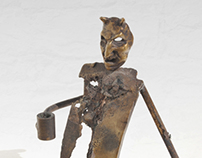"Bronze statue "" The Devil "" - paperweight"