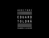 BRAND IDENTITY AUDITORI  EDUARD  TOLDRÀ