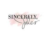 SINCERELY JULES BLOG DESIGN