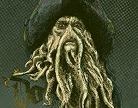 T-Shirt/Poster Davy Jones - Fan Art