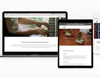 Piano Studio Website