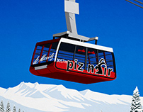 St.Moritz Ski Poster