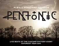 Pentonic Electronica Club by Theory Unit Graphic Design