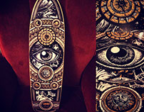 URKIN - Ilustration on Longboard _ ARGENTINA