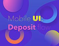 Deposit mobile UI
