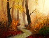 Autumn forest - Speedpaint