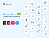 74 Weather Icons Free Download - UIFresh