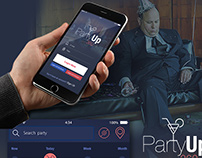 PARTY UP 360 ui ux design / San Francisco