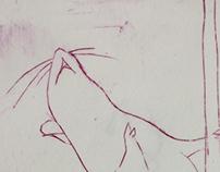 Stripper Rat plexiglass print