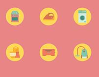 Household Electronics Icon Set