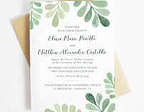 Botanical Wedding Set