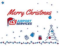 LS Airport Services - świąteczne grafiki