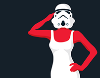 Star Wars Pin-up illustrations