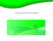 Simple Weather Widgets