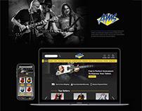 American Musical Supply Website Redesign - UX design