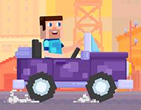 Happy Racing Characters - Steve