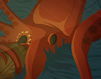 20,000 Leagues Under the Sea Illustration