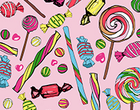 Sweets Seamless Print Patterns