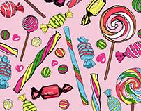 Sweets Seamless Print Patterns