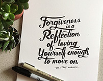 Handlettering | Forgiveness Quote