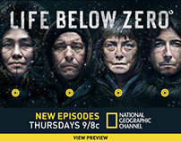 Life Below Zero Rich Media Banners
