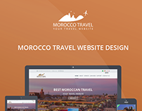 MOROCCO Travel website User Interface