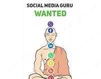 Illustrations for Social Media Expert Job Offer.