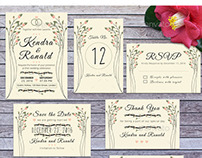 Wedding Invitation Set Vol 2