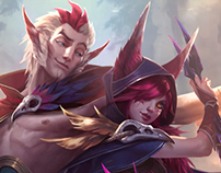 Rakan And Xayah Login Screen - League of Legends