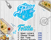 Menu Book Design of TotillaPasta