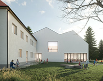 Extension of elementary school. NEWHOW ARCHITECTS.
