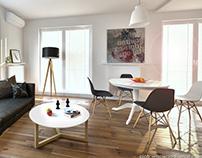 Living room 3d visualizations
