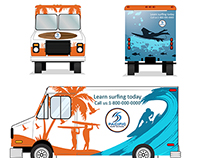 Pacific Surf School truck design. (my entry on 99design