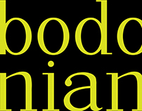 Bodonian Typeface