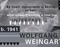 Poster Design – Wolfgang Weingart