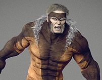 Sabretooth - Xmen - 3D fan art