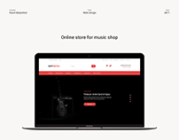 Online store for music shop
