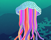 Superfast Jellyfish Illustration